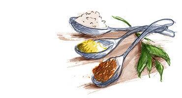 Les épices, condiments & spécialités aux algues