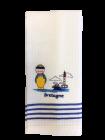Torchon Blanc et Bleu 50*70