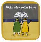 """Caramels au beurre salé boîte 45g décor """"Nudistes en Bretagne"""