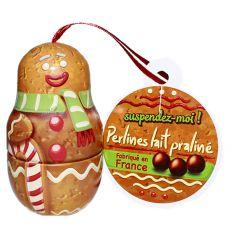 Boîte bonhomme perlines chocolat