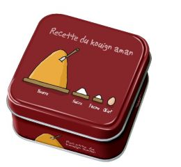 """Caramels au beurre salé boîte 45g décor """"Recette du Kouign Amann"""""""
