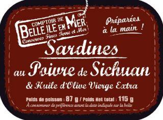 Sardines au poivre de Sichuan et à l'huile d'olive vierge extra