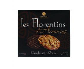 Florentin Etui chocolat noir / orange