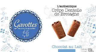 Etui de crêpes dentelle au chocolat au lait Gavottes