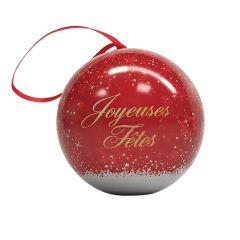 """Boule de Noël """"joyeuses fêtes"""" caramel 45g"""