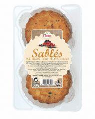 Sablés bretons pur beurre aux fruits rouges