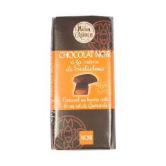 Tablette au chocolat noir et à la crème de Salidou