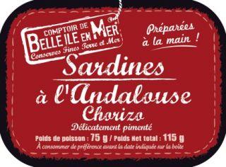 Sardines au chorizo et à l'huile d'olive vierge extra