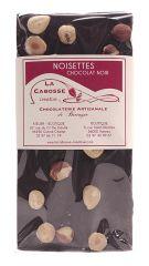 Tablette chocolat noir et noisettes 98g