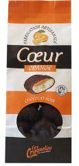 Craquelins coeur chocolat orange