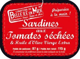 Sardines aux tomates séchées et à l'huile d'olive vierge extra