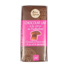 Tablette au chocolat au lait et à la crème de Salidou
