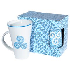 "Duo de mugs trompette collection ""Triskell Nami"""