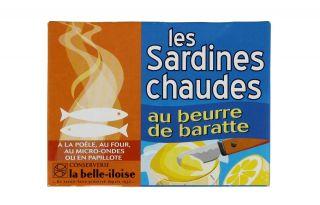 """Sardines Chaudes au Beurre de Baratte """"Belle Iloise"""""""