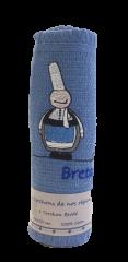 Torchon Bleu Roulé 50*70cm