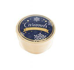 """Boite bleue """"Noël"""" de caramel au beurre salé"""