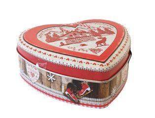 Boîte cœur rouge au caramel