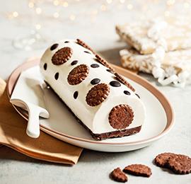 Bûche de Noël, vanille et chocolat