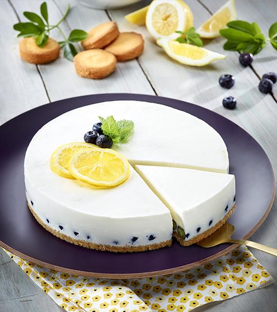 Cheesecake citron myrtilles