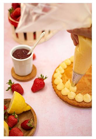 Décoration Gâteau breton avec crème citron